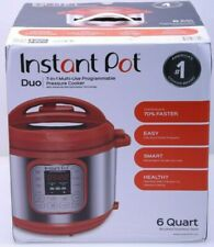 Instant Pot Duo 7-in-1 Electric Pressure Cooker, Slow Rice 6-QT, Red Brand New