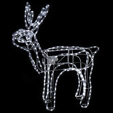 90cm White LED 3D Animated Reindeer Rope Light With Moving Head !!
