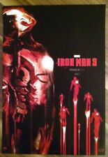 IRON MAN 3  Exclusive IMAX 13' x 19' Mini Poster MARVEL - VHTF