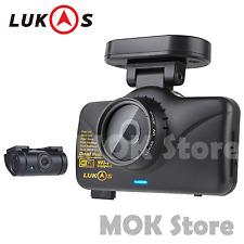 LUKAS LK-7950 WD GPS Dual Full HD 1920x1080 LED 8GB+8GB Car Dash Camera Blackbox