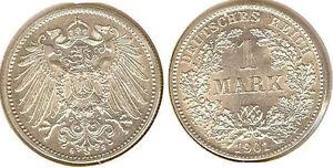 Kaiserreich  1 Mark 1901 G  prägefrisch bis stempelglanz