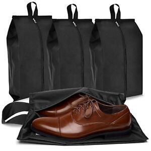 4pcs Waterproof Non-woven Zipper Bag Travel Wash Pouch Shoe Clothes Storage Bag