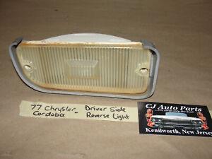 OEM 77 Chrysler Cordoba MOPAR LEFT DRIVER SIDE REAR BUMPER REVERSE LIGHT LENS