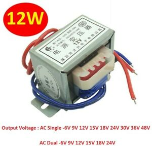 AC 220V 50Hz Power Transformer Single/Dual 12W Output AC 6V 9V 12V 15V 18V -48V
