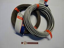 Lautsprecherleitung Anschlusskabel 10m Ho3Vh-H 2×0,75mm² Weiß-Braun, Düwi