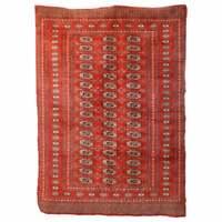 Large Vintage Hand Knotted Wool Bokhara Nomadic Tribal Rug, circa 1940