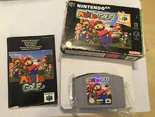 NINTENDO 64 N64 GAME PAK CARTRIDGE SUPER MARIO GOLF +BOX INSTRUCTI' COMPLETE PAL