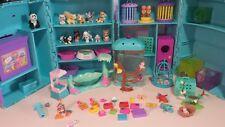 Vtg (2) Littlest Little Pet Shop 1990s Kennel, Playset ,Habitats & Accessories