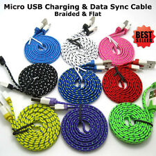 1M 2M 3M Strong Flat Braided Micro USB Data Sync Charging Cable for Smart Phone