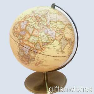STUNNING 30cm QUALITY  Antique Embossed Raised Relief Educational World Globe