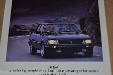 1985 Peugeot 505 advertisement, PEUGEOT 505 Turbo