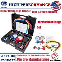 AC Manifold Gauge Set R134A R410a R134 Air Conditioning A/C Refrigeration Kit US