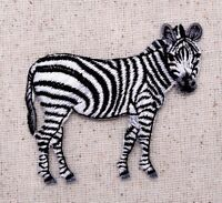 Zebra Wild Animals/Zoo/Safari - Facing Right Iron on Applique/Embroidered Patch