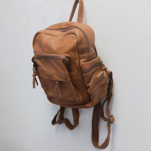 Fat Face Women's Multi-Functional Brown Leather Rucksack (Retail $140)