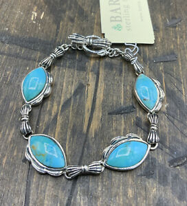 Barse Gatsby Toggle Bracelet- Turquoise & Sterling Silver- NWT
