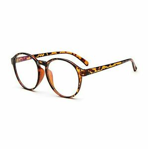 Womens Mens Clear Lens Glasses Fashion Oval Round Keyhole Glasses UK STOCK