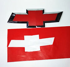 """Red Vinyl Sheets-2- 11"""" x 5""""- U-Cut Decals for Chevy Bowtie Emblems"""