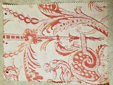 Fortuny fabric  Mazzarino, Bittersweet and Ivory