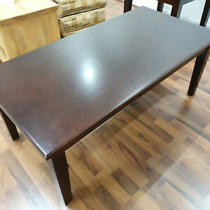 Lewis Coffee Table Brown Large 1.2m Length Chocolate Flat Pack Dark Wood Wooden