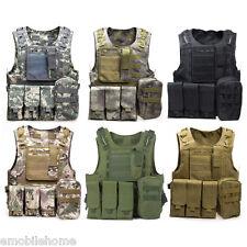 Amphibious Tactical Military Vest Molle Waistcoat Combat Assault Camouflage