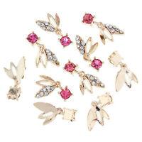 3D Nail Art Jewelry Alloy Deco Crystal Rhinestones Glitter Tips DIY 10Pcs TN01