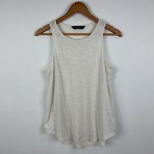 Decjuba Womens Sleeveless Top Size Small Off White Good Condition