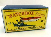 Matchbox Lesney No 48 SPORTS BOAT & TRAILER Empty Box style D