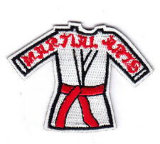 """MARTIAL ARTS"" Iron On Patch Sports Games Karate"