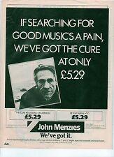 "CURE Standing on a Beach (J Menzies) UK magazine ADVERT / mini Poster 11x8"""
