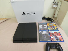 Sony Playstation 4 CUH-1215 500GB Black Console - w/ 4 game  - Free Shipping -