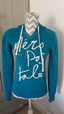 Aeropostale Hoody Hoodie Ladies Medium Deep Petrol Turquoise Colour