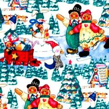 1 yard Gingerbread Friends Christmas  Fabric