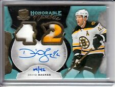 2016-17 The Cup Honorable Numbers David Backes Patch AUTO /42 Boston Bruins