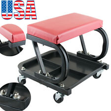 Roller Seat Padded Mechanics Roller Creeper Auto Workshop Garage Vehicle Tools