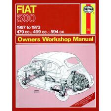 Fiat 500 Haynes Manual 1957-73  0.5 0.6 Petrol Workshop