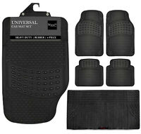 Large 4 / 5 Piece Front Rear Car Mat Carpet Non-Slip Universal Van Mats Rubber