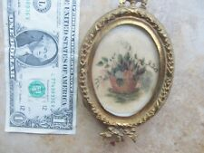 Classic 1814  Antique Miniature Sweetheart Love Watercolor Painting, Flower GIFT