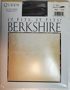 NOS Pantyhose Berkshire Queen 3X-4X All Day™ Sheer Sandalfoot #4416-New Old Stk.