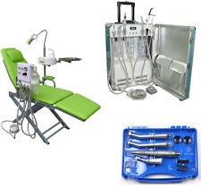 Fauteuil Dentaire Portable + Unité Dentaire Portable + Kit de Pièce à main