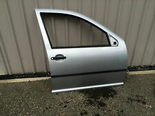 VOLKSWAGEN GOLF MK4 DRIVERS FRONT DOOR (SILVER ) SHELL ONLY 1998 TO 2004