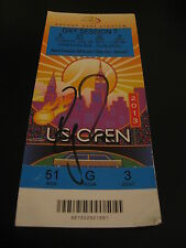 ROGER FEDERER SIGNED AUTOGRAPH US OPEN TICKET RARE ITEM 2013 COURTSIDE TENNIS B