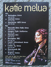 KATIE MELUA - PICTURES UK TOUR FLYER POSTER 2008 (DOUBLE SIDED STIFF CARD)