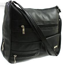 donna grande di marca Borsa Spalla a tracolla messenger borsa nero