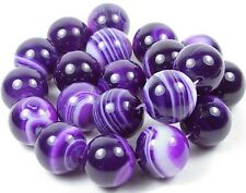 A++  20mm Purple Sardonyx Agate Round Ball Beads 15.5""