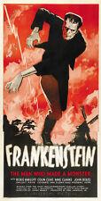 Frankenstein (1931)  Boris Karloff Horror movie poster print 11