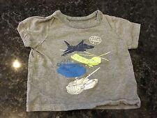 Pre-Loved 💙 Osh Kosh. Grey Transport T-Shirt. 6 Months.