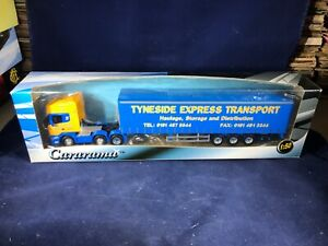 O-54 CARARAMA 1:50 SCALE DIE CAST TRACTOR TRAILER - TYNESIDE EXPRESS TRANSPORT