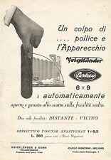 W7826 Apparecchio Fotografico VOIGTLANDER Perkeo - Pubblicità del 1929 - Old ad