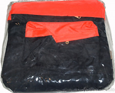 Deluxe Nylon Bicycle Pannier Bag / Black & Orange