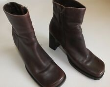 "Women's FAITH Ankle Boots 3"" Block Heel Size UK 5 EUR 38 Brown/ Purple"